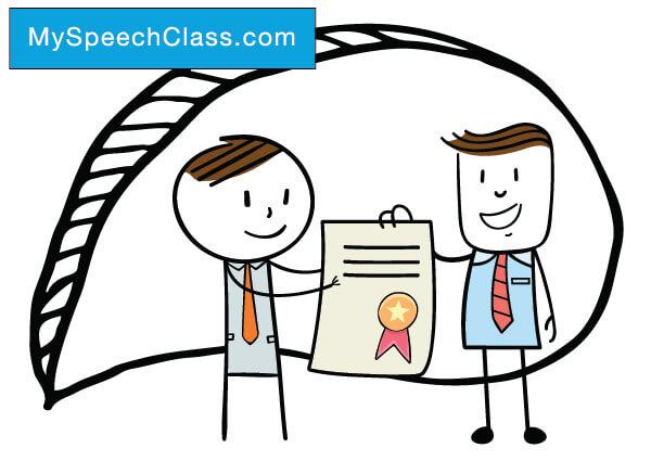 Award Presentation Speech My Speech Class