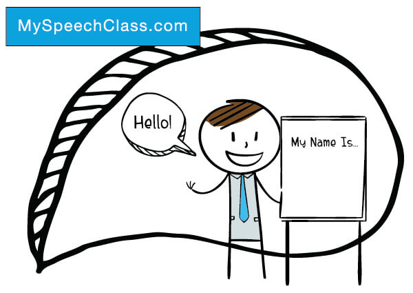 self introduction speech using an object examples